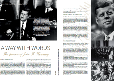 A Way With Words the Speeches of John F Kennedy