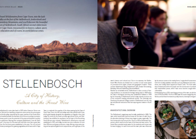 Stellenbosch a city of history culture and the finest wines