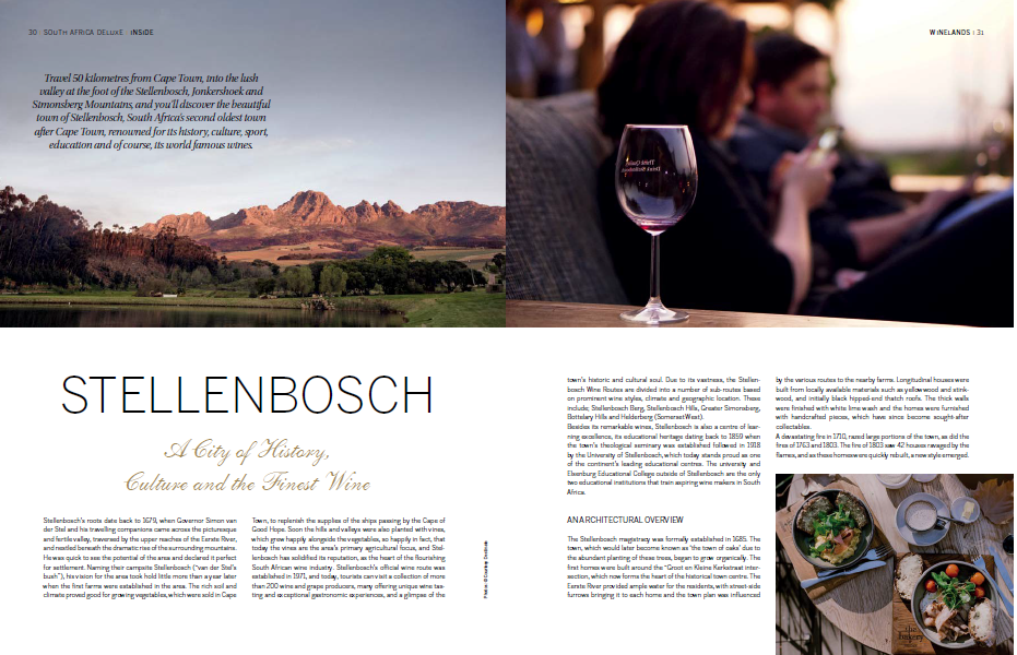 Lindsay Grubb looks at the history, architecture, culture and wines from Stellebosch
