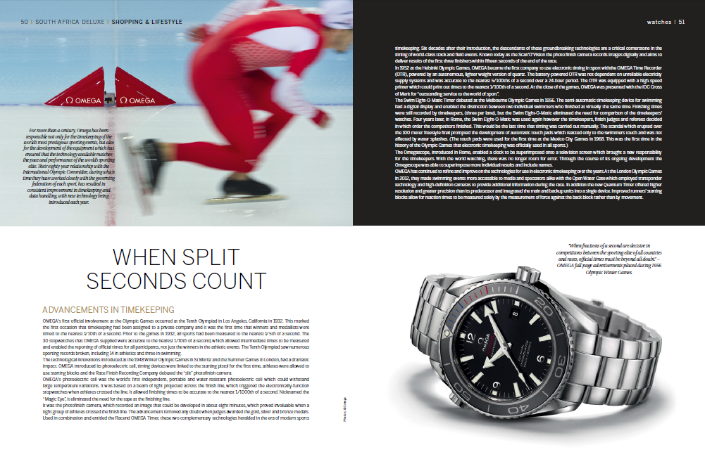 Lindsay Grubb looks at how Omega helps to keep time at the Olympics